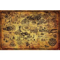 The Legend Of Zelda Map Maxi Poster - Art Gifts