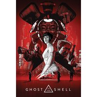 Ghost In The Shell Red Maxi Poster - Ghost Gifts