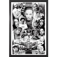 Rap Gods 2 Framed Maxi Poster - Rap Gifts