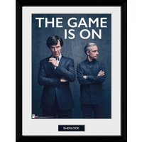 Sherlock The Game Is On Framed Collector Print - Sherlock Gifts