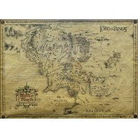 Lord Of The Rings Parchment Map Poster - Lord Of The Rings Gifts