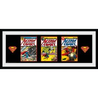 Superman 3 Comics Framed Collector Print - Superman Gifts