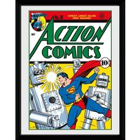 Superman Comic Framed Collector Print - Superman Gifts