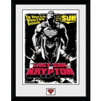 Superman Last Son of Krypton Framed Collector Print - Superman Gifts