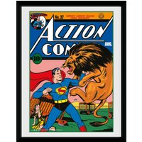 Superman Lion Framed Collector Print - Superman Gifts