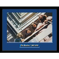 The Beatles Blue Album Framed Collector Print - Beatles Gifts
