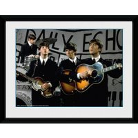 The Beatles Daily Echo Framed Collector Print - Beatles Gifts