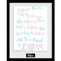 The Beatles Lyrics Framed Collector Print