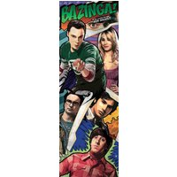 The Big Bang Theory Comic Door Poster - The Big Bang Theory Gifts