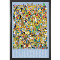 The Simpsons Cast 2012 Framed Maxi Poster
