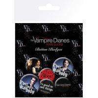 The Vampire Diaries Stefan & Damon Badge Pack - Vampire Gifts