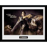 The Walking Dead Glenn Attack Framed Collector Print