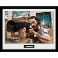 The Walking Dead Rick Gun Framed Collector Print - Gun Gifts