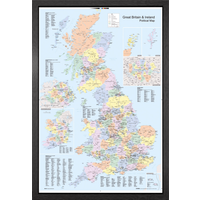 UK Map Political Framed Maxi Poster - Politics Gifts