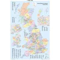 UK Map Political Maxi Poster - Politics Gifts