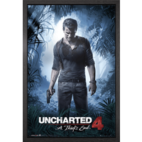 Uncharted 4 A Thief's End Framed Maxi Poster
