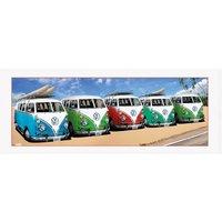 VW Californian Camper (Beech) Framed Collector Print