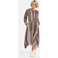 Kleid mit asymmetrischem Saum Mehrfarbig 46/L