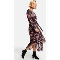 Kleid mit asymmetrischem Saum Mehrfarbig 36/S