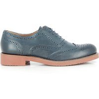 Albany Oxford Brogue Navy Leather