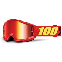 100% Kinder MTB-Brille The Accuri Youth Saarinen/Mirror Lens rot