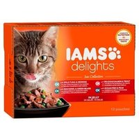 Iams Delights Katzennassfutter See Collection in Gelee 12 x 85 g