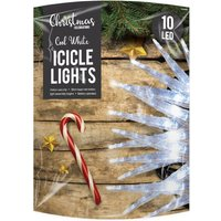 Click to view product details and reviews for 10 Led Cool White Icicle Lights.