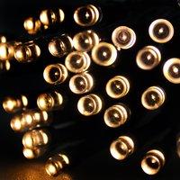 100 LED Warm White Solar Lights