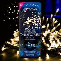 100 Warm White LED Connector Lights (Premier)
