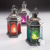 Click to view product details and reviews for 20cm Tonal Glass Lantern.
