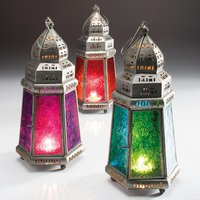 Click to view product details and reviews for 27cm Pyramid Moroccan Lantern.