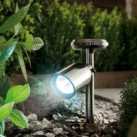 Click to view product details and reviews for Black Nickel Solar Spotlight.