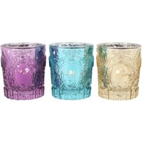 Click to view product details and reviews for Indian Styled Glass Tealight Holders 3 Pack.