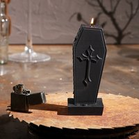 Click to view product details and reviews for Halloween Coffin Candle.