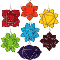 Click to view product details and reviews for Set Of 7 Chakra Sun Catchers.