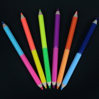 Chunky 50/50 Neon Pencils (6 Pack)