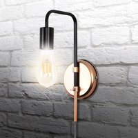 Click to view product details and reviews for Single Bulb Copper Wall Light Fitting.