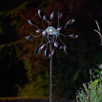 Click to view product details and reviews for Gemini Wind Spinner With Solar Globe.