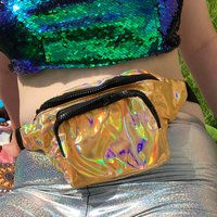 Click to view product details and reviews for Gold Holographic Bum Bag.