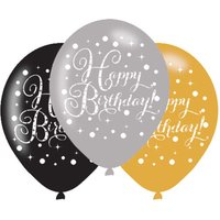 Click to view product details and reviews for Sparkling Happy Birthday Balloons X 6.