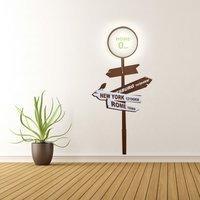 'Home Sign Wall Light With Sticker