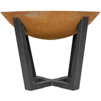 Click to view product details and reviews for Icarus Oxidised Cast Iron Fire Pit With Steel Legs.