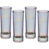 Click to view product details and reviews for Iridescent Tall Shot Glasses X 4.