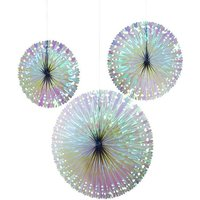 Click to view product details and reviews for Iridescent Fan Decorations 3 Pack.