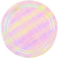 Click to view product details and reviews for 12 Iridescent Paper Plates.