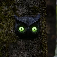 Click to view product details and reviews for Owl Glow Eye Tree Face.