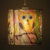 Fabric Owl Lampshade  19033