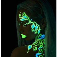 Click to view product details and reviews for Paintglow Glow In The Dark Face And Body Paint Kit Gs08.