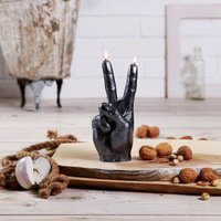 Click to view product details and reviews for Peace Sign Hand Candle.