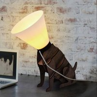 Poorly Dog Cone Lamp  19041